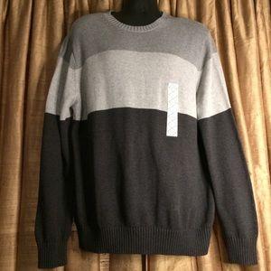 St. John's Bay Tonal Gray Colorblock Cotton weater
